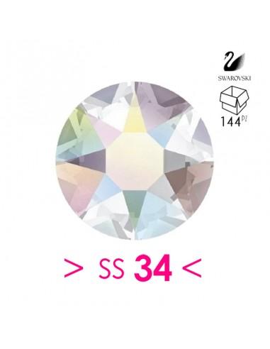 Rhinestones Strass Swarovski XIRIUS Rose ss 34  Crystal AB - 144PZ