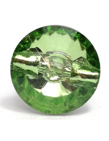 Glass Button 10 mm Peridot - 1PC
