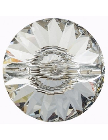 Glass Button 12 mm Crystal - 1PC