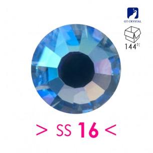strass termoadesivi ss 16 Sapphire ab-rhinestones hotfix 4,00mm