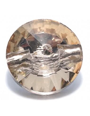Glass Button 12 mm Light Topaz - 1PZ