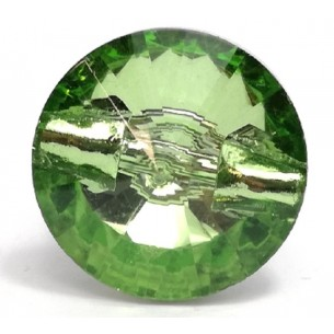 Glass Button 12 mm Peridot...