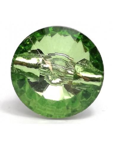 Glass Button 12 mm Peridot - 1PZ