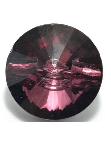 Bottone in Vetro mm 16 Bordeaux - 1PZ