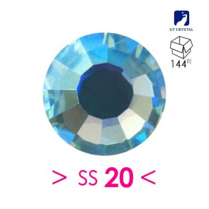 Strass GT Crystal Termoadesivo ss 20  Aquamarine ab - 144PZ  Rhinestones Hotfix