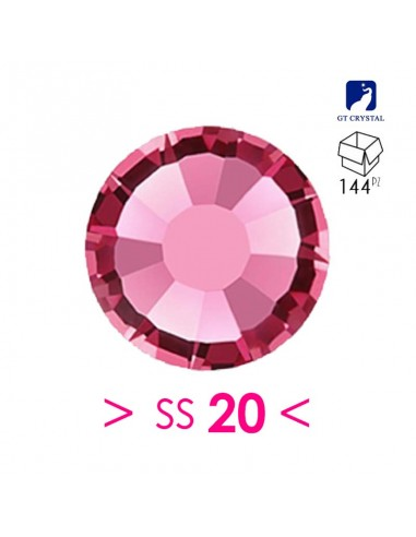 Strass Gt Crystal Hotfix ss 20  Rose...
