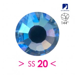 Rhinestones Hotfix Strass GT Crystal Termoadesivo ss 20  Sapphire AB - 144PZ