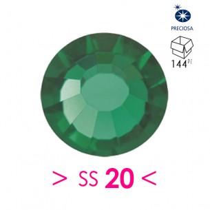 Strass Preciosa Termoadesivo ss 20 Emerald - 144PZ  Rhinestones Hotfix
