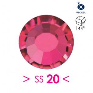 Strass Preciosa Termoadesivo ss 20  Ruby - 144PZ Rhinestones Hotfix