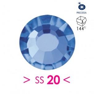 Strass Preciosa Termoadesivo ss 20  Sapphire - 144PZ Rhinestones Hotfix