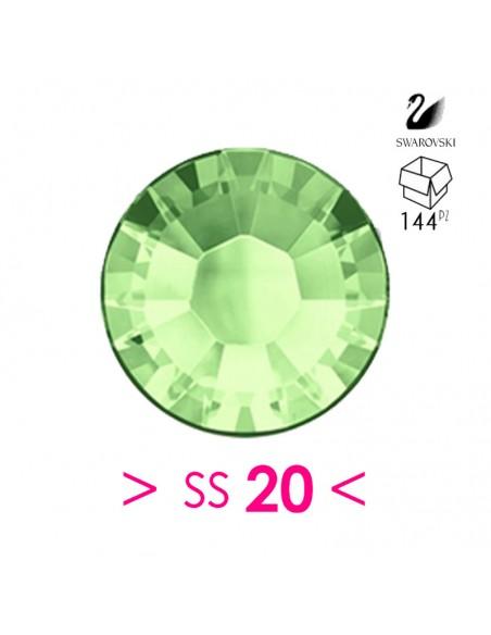 Strass Swarovski XILION Rose ss 20 Chrysolite - 144PZ Rhinestones Hotfix
