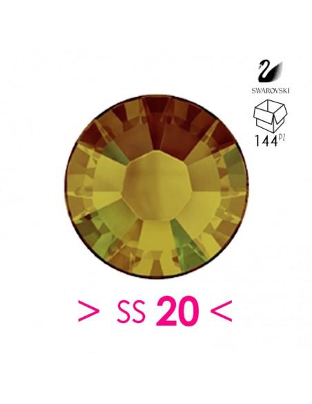 Strass Swarovski XILION Rose ss 20 Crystal Tabac - 144PZ  Rhinestones Hotfix