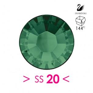 Strass Swarovski XILION Rose ss 20  Emerald - 144PZ Rhinestones Hotfix