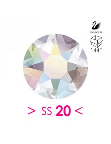Strass Swarovski XIRIUS Rose ss 20  Crystal AB - 144PZ rhinestone hotfix
