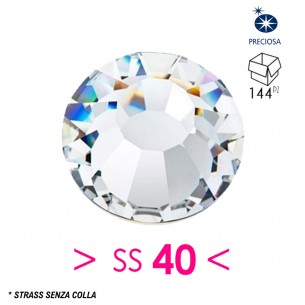 Strass Preciosa senza colla ss 40  Crystal - 144PZ