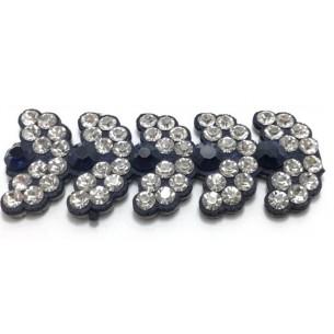 Bordura Strass Gioiello Termoadesiva cm. 2,0 Crystal/Montana - 1MT
