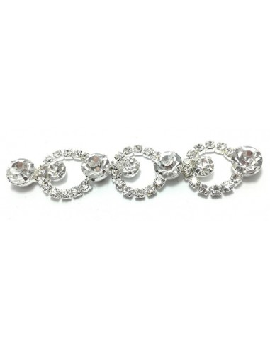 Jewel Strass Chain 1,5 Crystal-Silver...