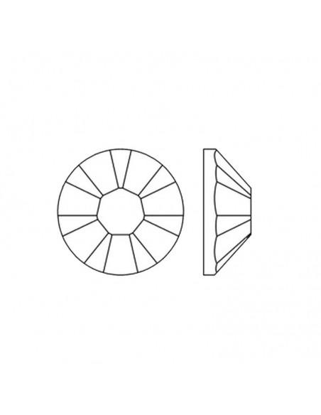 diagramma Strass Rhinestones Swarovski XILION Rose ss 16  Hematite Hotfix Termoadesivi - 144PZ