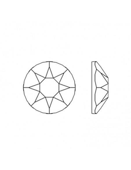 diagramma Strass Rhinestones Swarovski XIRIUS Rose ss 16  Hematite Hotfix Termoadesivo- 144PZ