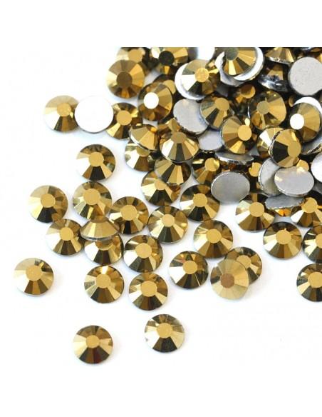 Strass GT Crystal Termoadesivo ss 10 Aurum - 144PZ hotfix rhinestone