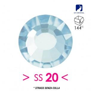 Strass GT Crystal senza colla ss 20  Aqua Bohemica - 144PZ
