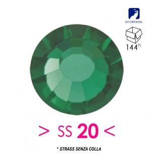 Strass GT Crystal senza colla ss 20  Emerald - 144PZ