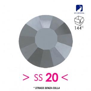 Strass GT Crystal senza colla ss 20 Hematite - 144PZ