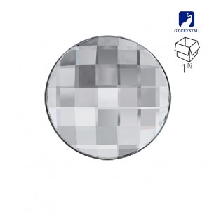 Pietra Rotonda mm 12 Crystal a fondo piatto da incollare - 1PZ