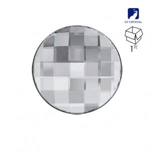Pietra Rotonda mm 20 Crystal a fondo piatto da incollare - 1PZ
