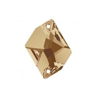 Pietra Cosmic Swarovski mm 20x16 Crystal Golden Shadow - 1PZ