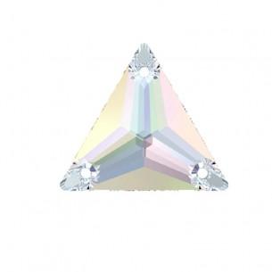 Pietra Triangolo Swarovski mm 22 Crystal AB - 1PZ