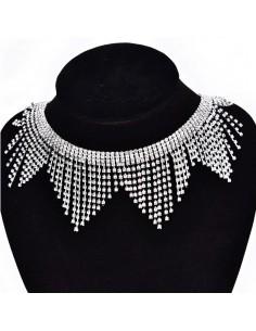 Frangia Strass Gioiello Alt. cm 6 Crystal-Silver - 20 CM