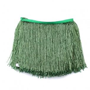 Frange da cucire a Cannette Emerald pacco - 1MT.
