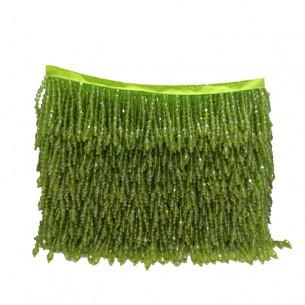 Frange da cucire a Biconi Peridot AB pacco - 1 MT.