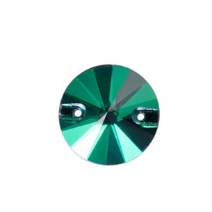 Stone sew on Round mm 14 Emerald