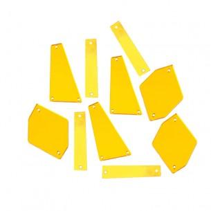 Specchietti da cucire Oro (3 forme)  pacco - 30PZ