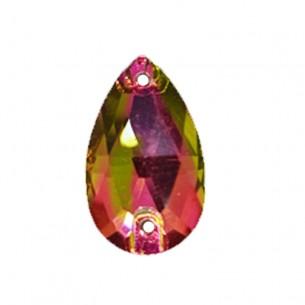 Pietra Goccia Stars mm 18x10,5 Crystal Vitrail Medium - 1PZ