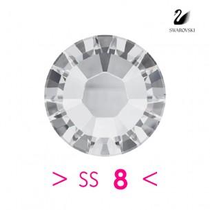 Strass Swarovski XILION Rose ss 8 Crystal - 115PZ strass termoadesivi, rhinestones hotfix