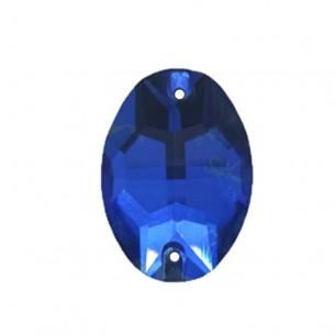 Pietra Ovale Stars mm 24x17 Capri Blu - 1PZ