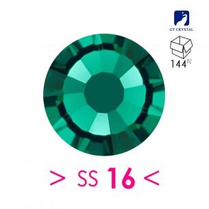 Rhinestones Strass GT Crystal Termoadesivo ss 16 Emerald - 144PZ Hotfix