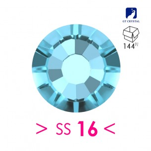 Rhinestones Strass GT Crystal Termoadesivo ss 16 Aqua Bohemica - 144PZ Hotfix