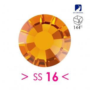 Rhinestones Strass GT Crystal Termoadesivo ss 16 Topaz - 144PZ Hotfix