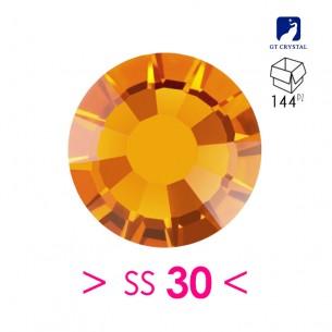 Rhinestones Strass GT Crystal Termoadesivo ss 30 Topaz - 144PZ Hotfix