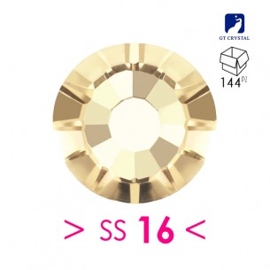 Rhinestones Strass GT Crystal Termoadesivo ss 16Lt. Col. Topaz - 144PZ Hotfix
