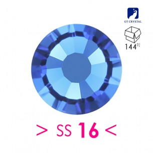 Rhinestones Strass GT Crystal Termoadesivo Hotfix ss 16  Sapphire - 144PZ
