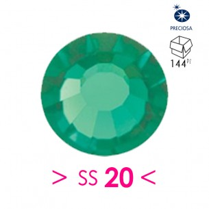 Rhinestones Preciosa Hotfix ss 20 Green Turmaline - 144 pcs
