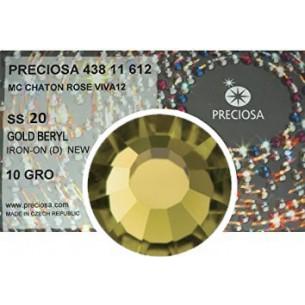 Preciosa Rhinestones Hotfix ss 20 Gold Beryl - 1440 pcs