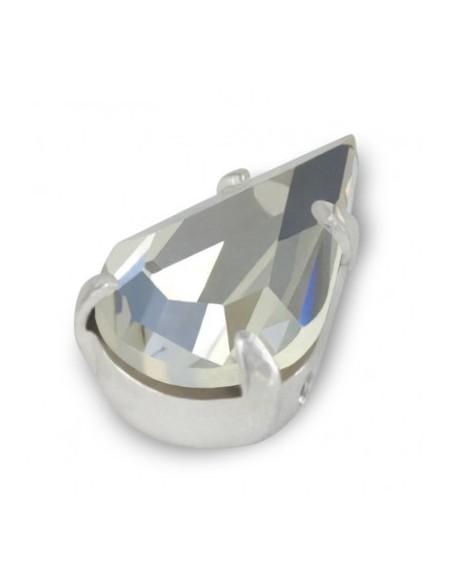 Preciosa setting Drop 13x7,8 mm Crystal-Silver