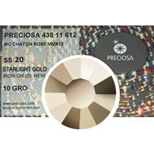 Preciosa Rhinestones Hotfix ss 20 Starlight Gold - 1440 pcs