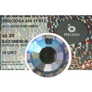 Preciosa Strass Rhinestones  Termoadesivi Hotfix ss 20 Black Diamond AB - 1440 pz
